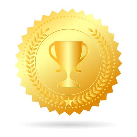 Campeón ilustración medalla de oro Foto de archivo - 22071915