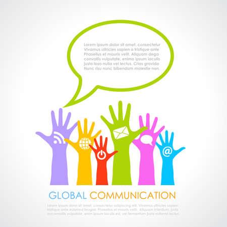 Global communication poster Vector