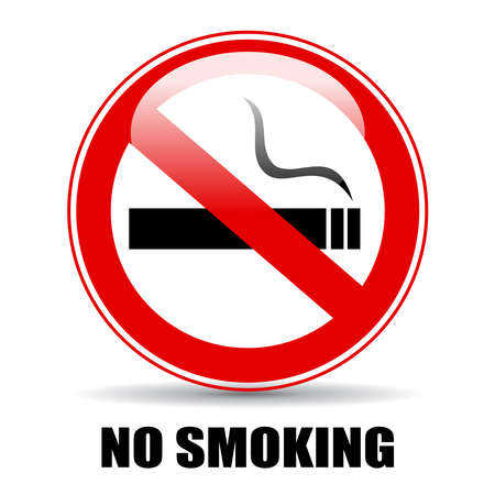no label: No smoking illustration