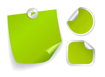 Green stickers set