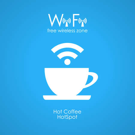 Gratis wifi cafe poster Stock Illustratie