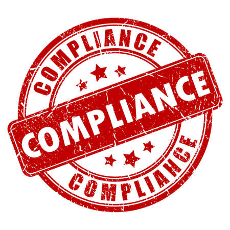 compliance: Compliance stamp Illustration