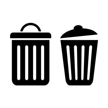 cesto basura: Icono de cubo de basura