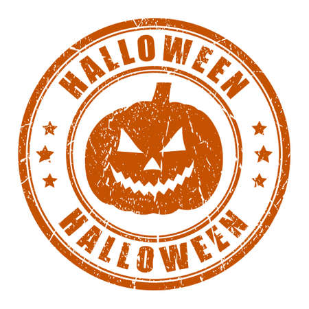 Halloween grunge stamp Vector