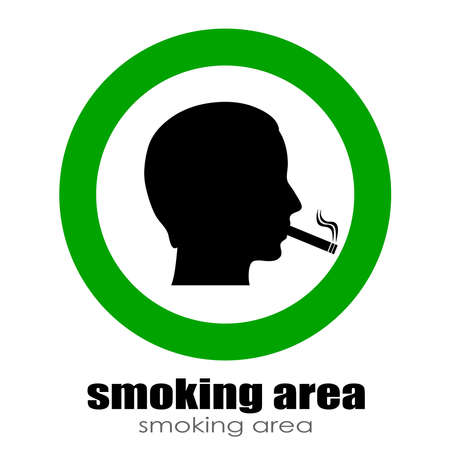 Smoking room sign Stock Vector - 23069573