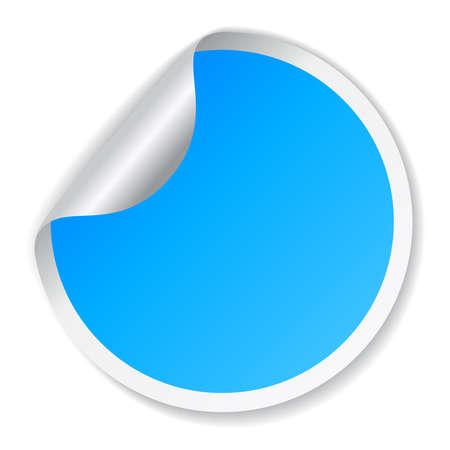 adhesive note: Blue sticker
