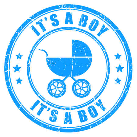Its a boy stamp Vector