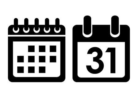 カレンダー型のアイコン  イラスト・ベクター素材