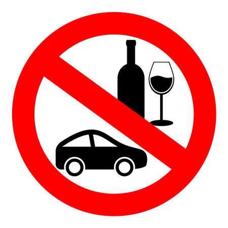 manejando: Ning?n signo de bebida y unidad  Vectores