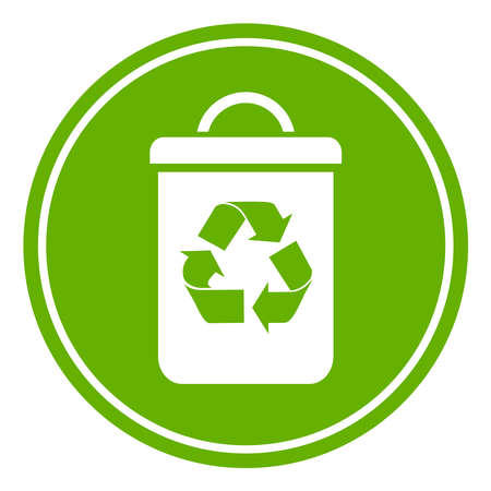 recyclable waste: Recycle waste bin Illustration