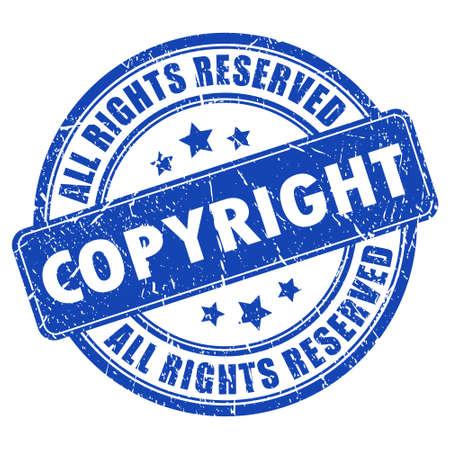 Derechos de autor sello de tinta