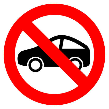 No car sign Illustration