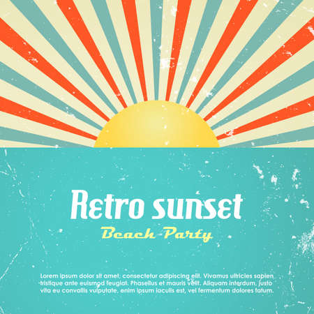Retro poster design Vector