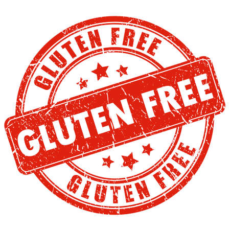 gluten: Gluten free stamp Illustration