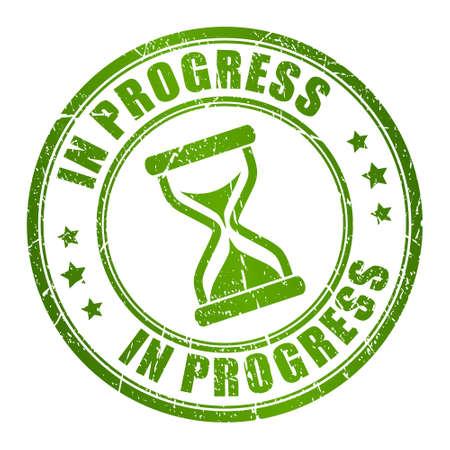 En timbre progrès Banque d'images - 23660067