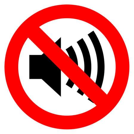 Geen geluid teken