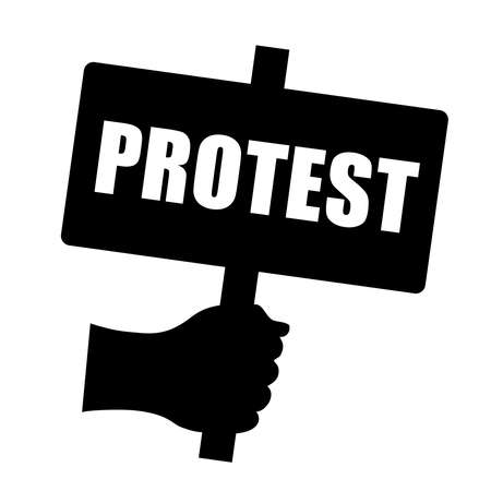 bill board: Protest sign