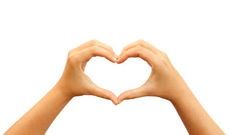 Heart hands Stock Photo