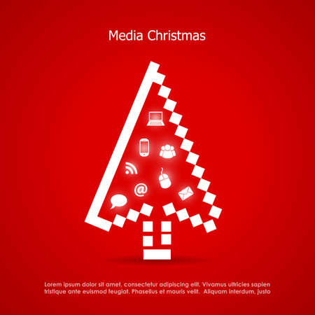 post card: Merry christmas post kaart media concept