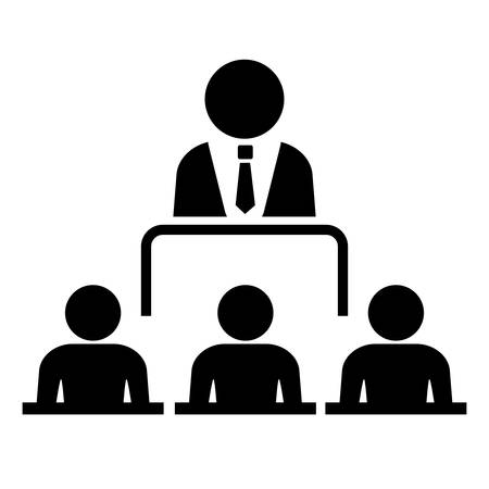 lecture room: Conference icon Illustration