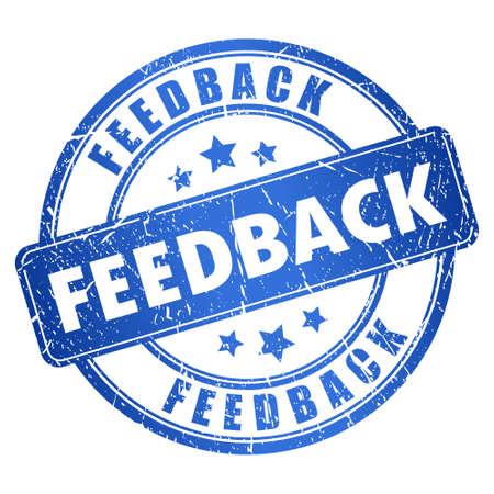 feedback label: Feedback stamp Illustration