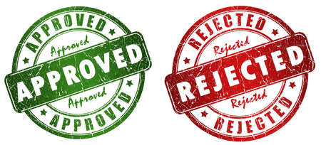 rejected: Approved and rejected stamps