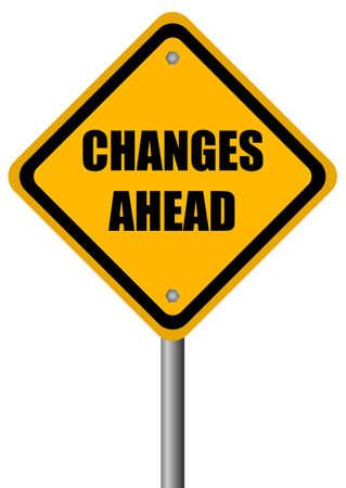 Änderungen vor Schild