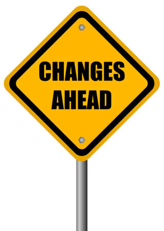 Changes ahead sign Stock Photo - 23660089