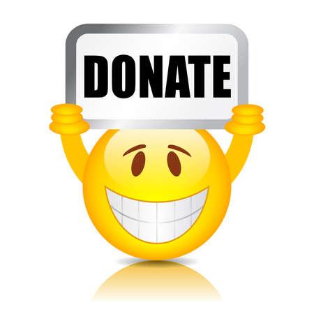 contribute: Donate sign