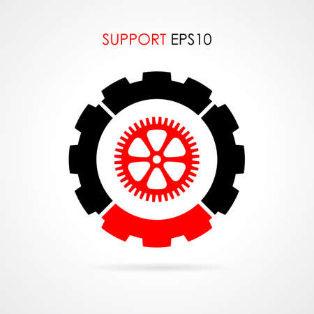 fix gear: Technical support symbol