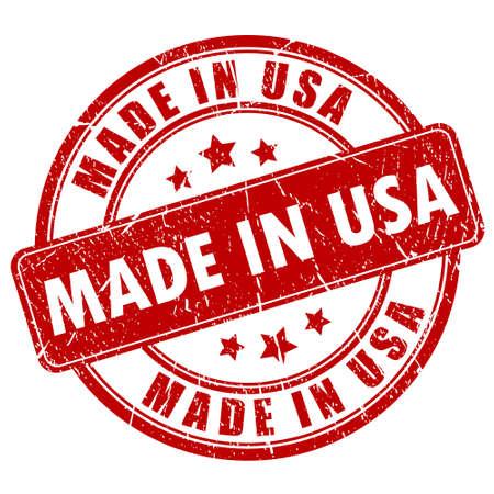 Fabricado en EE.UU. sello Ilustración de vector