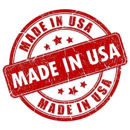 grunge shape: Made in USA stamp