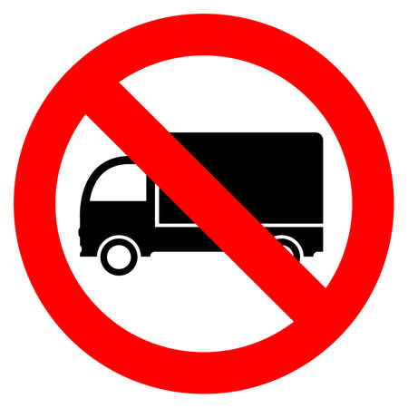 No lorry parking Vector