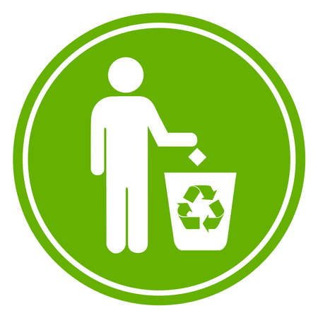 littering: Recycle symbol