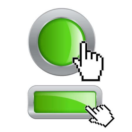 Click button Vector