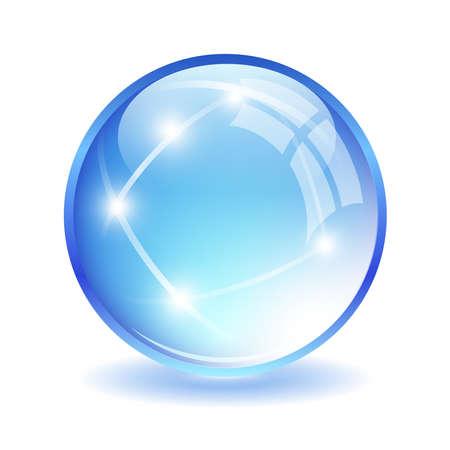 Glass ball illustration Illustration