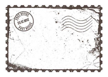 uneven edge: Vintage post card Illustration