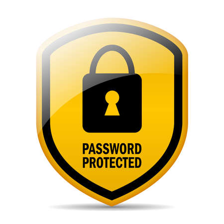 Password protected Stock Vector - 24165548