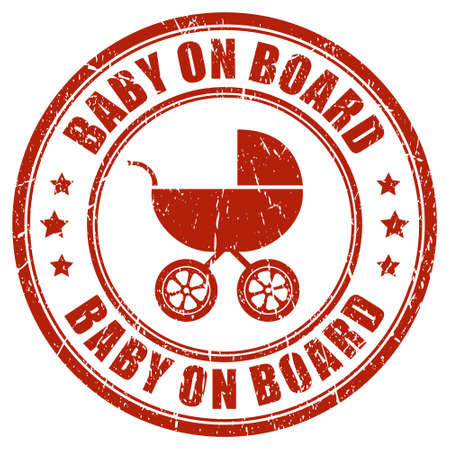 Baby on board stamp Vector