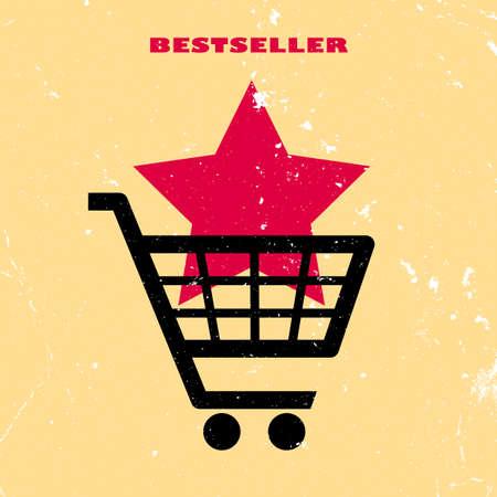 Bestseller retro poster Vector