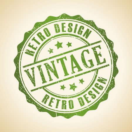 authentic: Vintage stamp Illustration