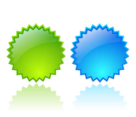 Glass stars icons Vector