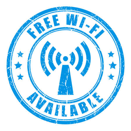 Free wifi stamp Stock Vector - 24625831