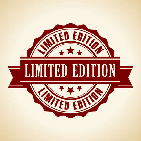 edition: Limited edition icon Illustration