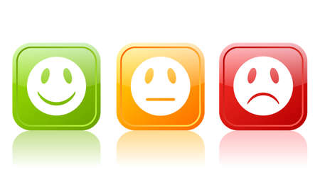 positief: Reactie symbolen Stock Illustratie