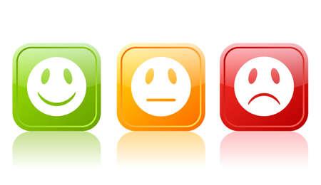 kunden: Reaction Symbole Illustration