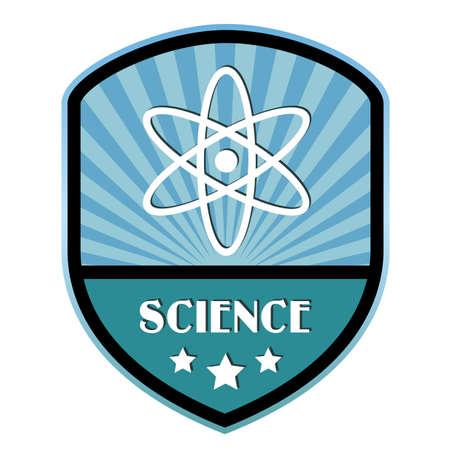 Science retro label Vector