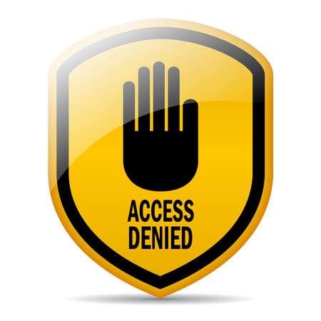 no pase: Acceso denegado Vectores