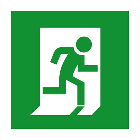 Emergency exit sign Çizim