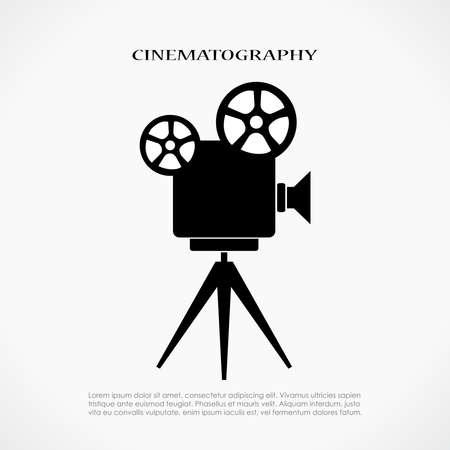 camara de cine: Icono retro cine